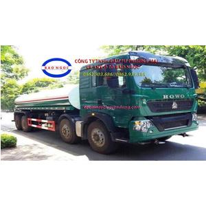 Xe téc phun nước rửa đường 17 khối howo T5G