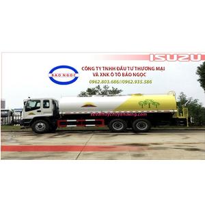 Xe téc nước isuzu 3 chân 12 khối phun nước tưới cây rửa đường