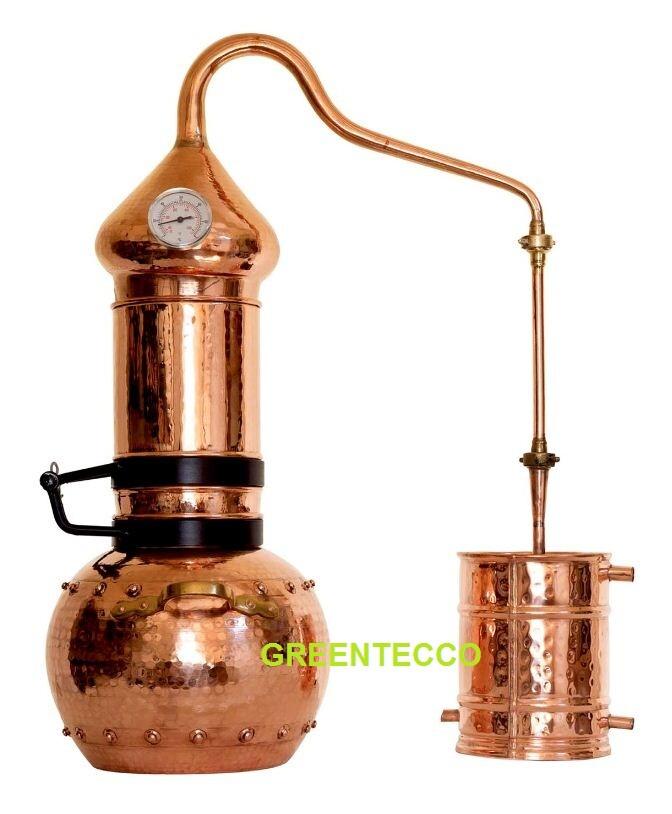 Bộ chưng cất tinh dầu bằng hơi nước 10 lit chất liệu đồng đỏ - Bồ Đào Nha