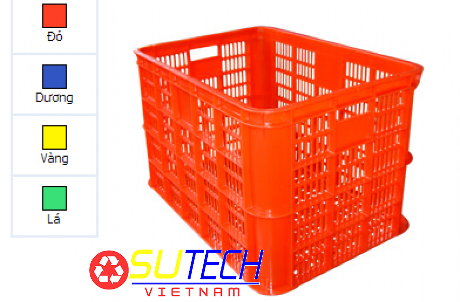 Thùng nhựa hở HS004 - SH