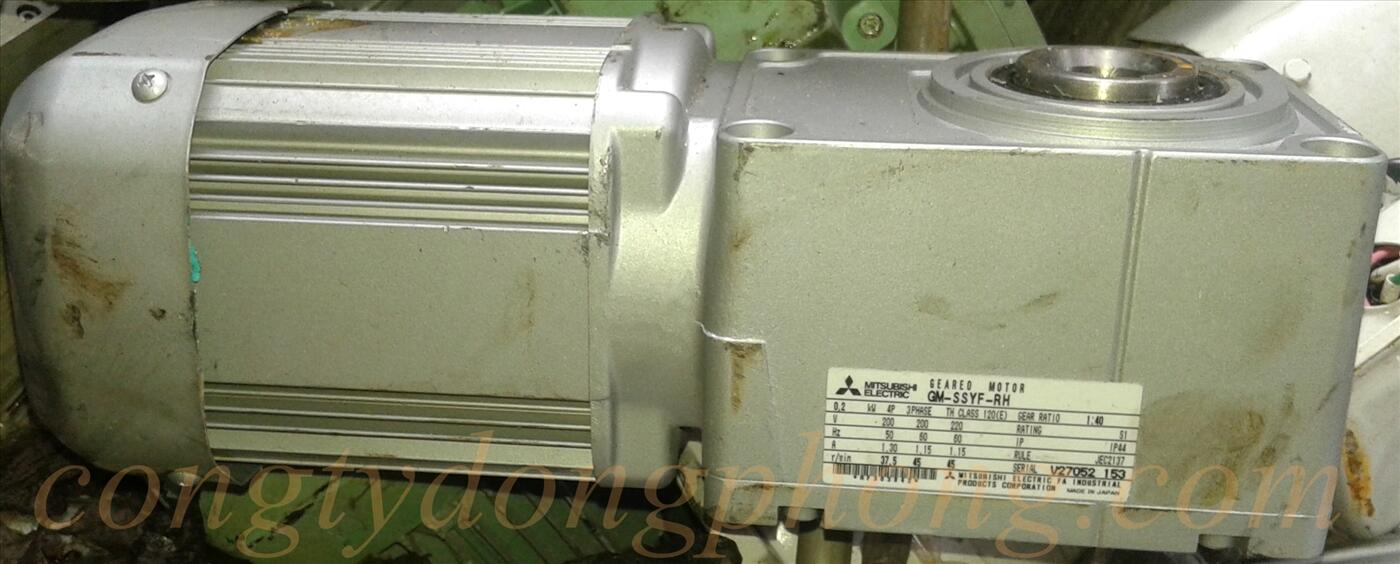 motor giảm tốc cốt âm 200w 1/40