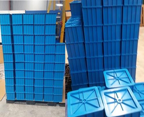 Khuôn đúc mẫu bê tông bằng nhựa lập phương