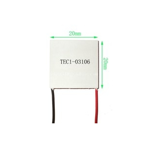 20x20 mm TEC1-03106 (2x2 cm) 3.7V 6A sò nóng lạnh peltier