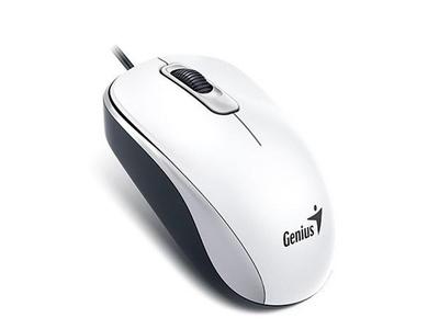 MOUSE GENIUS DX110 WHITE OPTICAL USB (chạy được trên mặt kính, trắng)