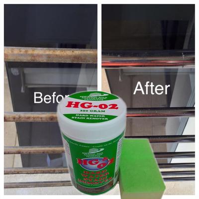 Bột Tẩy mốc rỉ sét trên các thiết bị Inox -HG-02 Hard-Water-Stain-Remover SHOWER 400gr