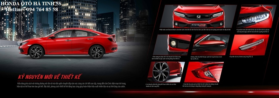 Honda Civic nhập khẩu mới - Honda Ôtô Hà Tĩnh 5S - Hotline: 0947648558 - Hình 23