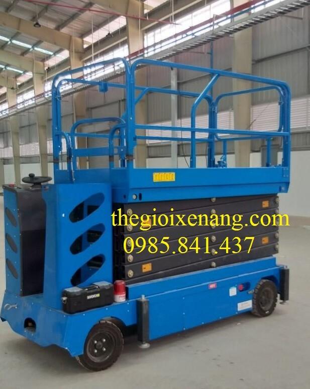 xe nâng người tự hành 12 mét , xe thang bằng điện , xe nâng người 12 mét , thang nâng di chuyển bằng điện