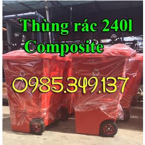 Thùng rác 240 lít nhựa Composite- GIÁ SIÊU RẺ