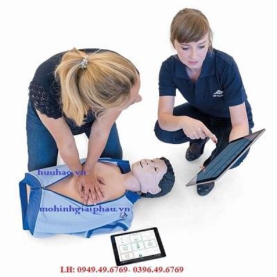 MÔ HÌNH HỒI SỨC CẤP CỨU CPR KẾT NỐI MÁY TÍNH BẢNG CPRLILLY PRO+
