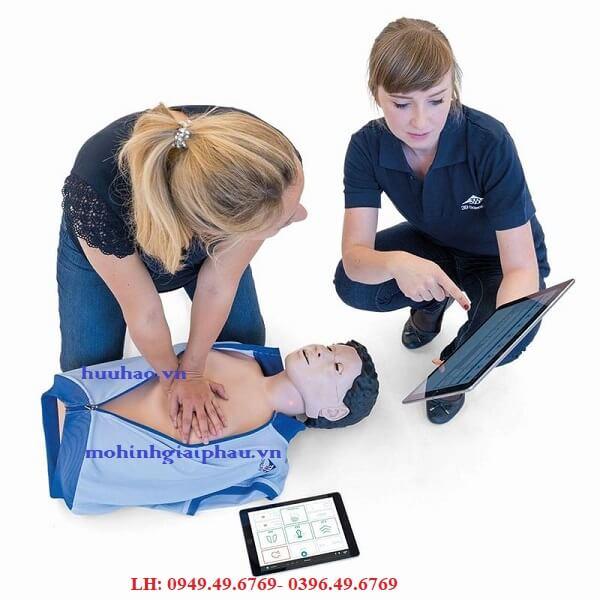 MÔ HÌNH HỒI SỨC CẤP CỨU CPR KẾT NỐI MÁY TÍNH BẢNG