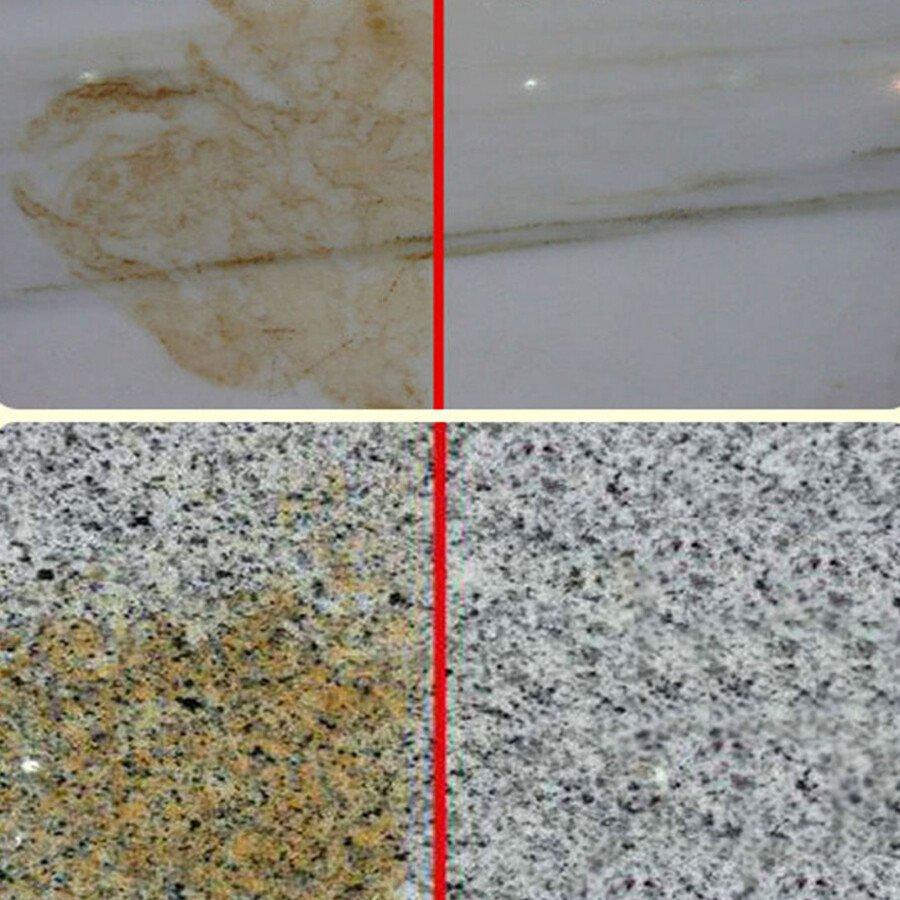 Tẩy rỉ sắt ố vàng trên nền đá nền gạch HG02 STAIN HANDWATER REMOVE