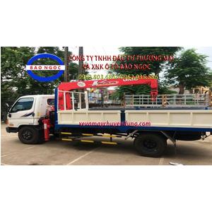 Xe tải hyundai HD800 gắn cẩu unic 344