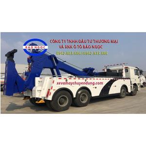 Xe cứu hộ giao thông 4 chân shacman kéo chở xe
