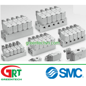 3-way solenoid valve / air-operated / air / base-mounted 0.35 - 0.4 W | VP300, 500, 700 series | SMC