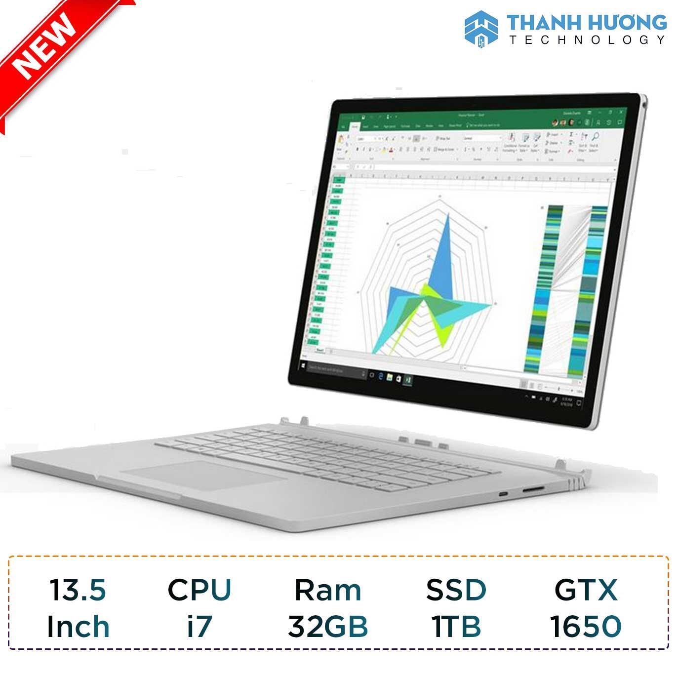 Microsoft Surface Book 3 - 13.5 inch - Core i7 - Ram 32GB - SSD 1TB - GTX 1650 4GB New Seal
