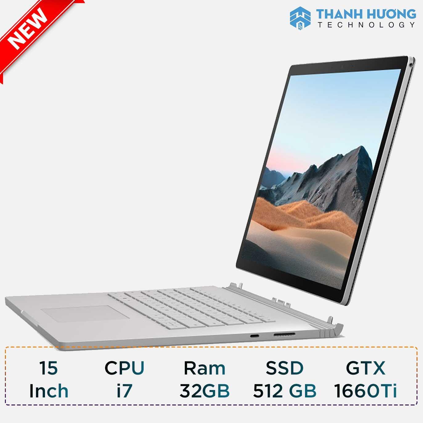 Microsoft Surface Book 3 - 15inch - Core i7 - Ram 32GB - SSD 512GB - 1660Ti 6GB New Seal