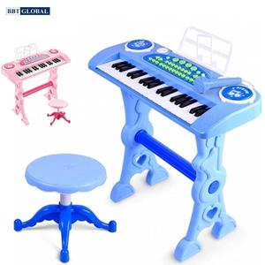 Đồ chơi mô hình BBT GLOBAL - Đồ chơi đàn Organ 37 phím có sạc và ghế cho bé - 328-03
