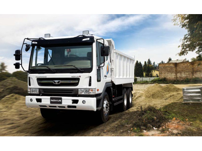 Xe ben Daewoo 3 chân 6x4 15 tấn euro 4