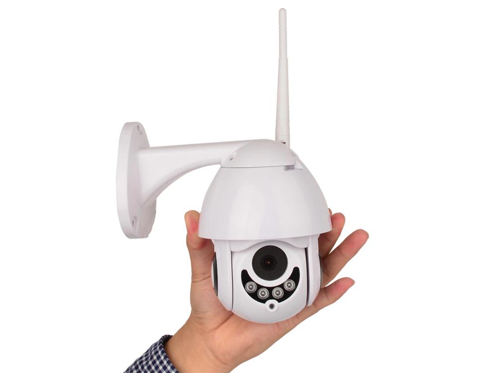 Wireless WiFi HD 1080P 2.5 Inch Mini PTZ Speed Dome Outdoor Waterproof Two Way Audio IR Night Vision