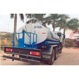 Xe téc nước 13 khối howo 3 chân phun tưới cây rửa đường
