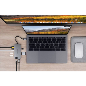 Hub USB-C 8 in 1 Hyperdrive Slim for Macbook, PC & devices