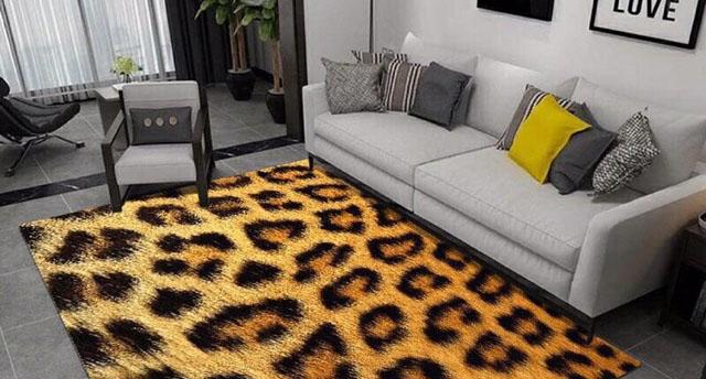 Thảm trải sàn tạo không gian rộng rãi cho căn phòng