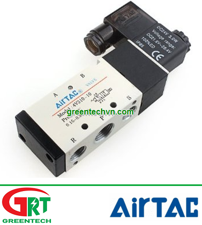 4V310-10 | Airtac 4V310-10 | Van điện từ 24VDC 3/8 | Single Solenoid Valve | Airtac Vietnam