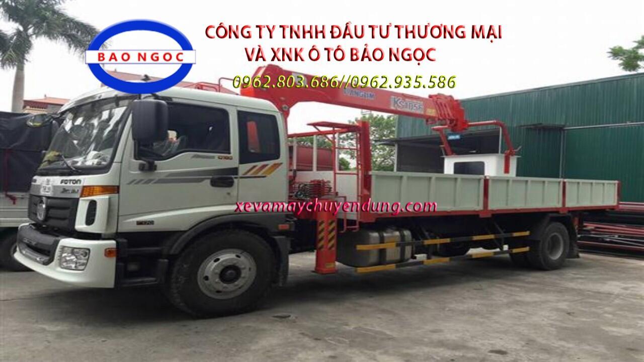 XE TẢI THACO C160 GẮN CẨU 5 TẤN 6 ĐỐT KANGLIM KS1056