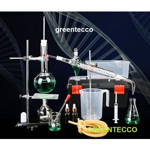 500 ml - Bộ chưng cất chiết xuất tinh dầu bằng hơi nước mini 500 ml - chất liệu thủy tinh