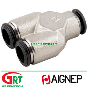 50310N   Aignep   Push-in fitting / Y / for compressed air / nickel-plated brass  Aignep Vietnam