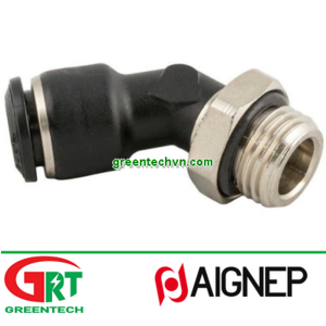 55175   Aignep   Push-in fitting / 45° angle / for compressed air / nickel-plated br  Aignep Vietnam