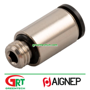 56010   Aignep   Push-in fitting / straight / for compressed air / nickel-plated bras Aignep Vietnam