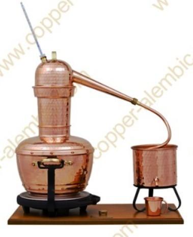 Máy chưng cất tinh dầu bằng hơi nước 6 lit chất liệu đồng - Bồ Đào Nha