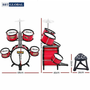 Đồ chơi mô hình BBT GLOBAL - Bộ đồ chơi trống cỡ to 8 chi tiết - 6615A-5