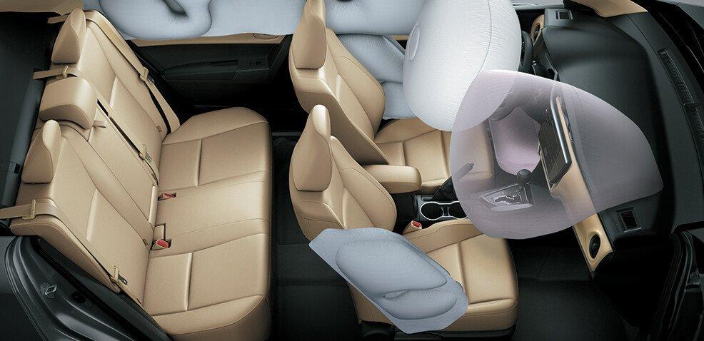 7 Túi khí an toàn trên xe toyota altis