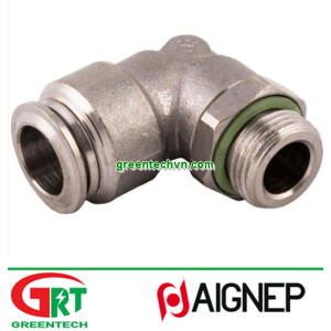 70116   Aignep   Push-in fitting / elbow / for compressed air / nickel-plated brass   Aignep Vietnam