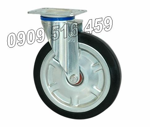 Bánh xe đẩy cao su thép, di động