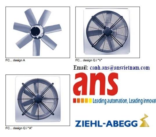Quạt dàn lạnh Ziehl-Abegg FE071-SDQ.6F.V7, FL050-VQD.4I.V5S. Quạt làm mát