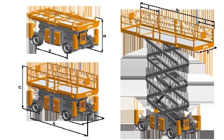 Hình ảnh xe nâng người CX15