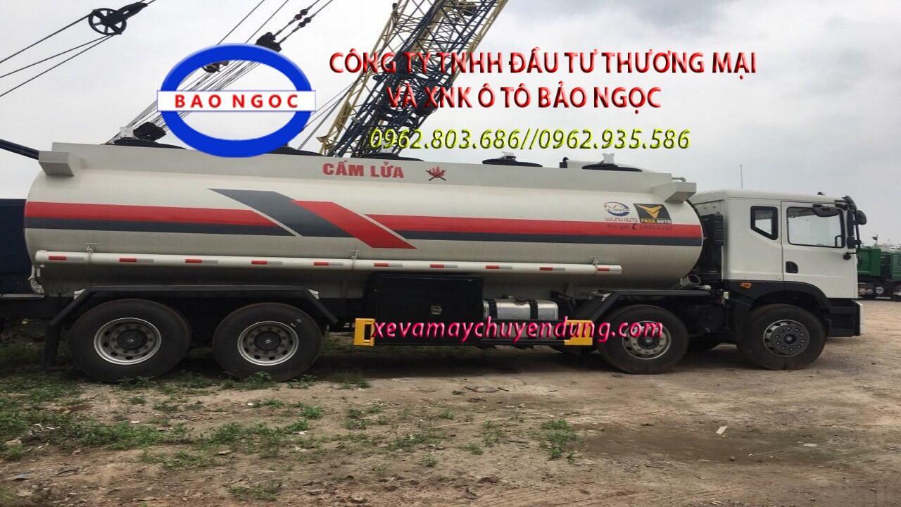 Xe téc 4 chân hyundai hd320 chở xăng dầu 22 khối (m3)