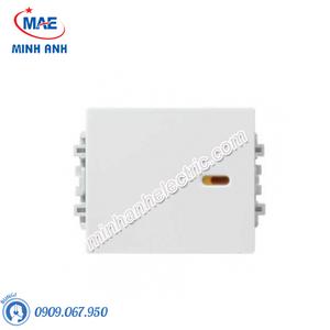 Công tắc 2 chiều size M màu trắng-Series Zencelo A - Model 8431M_2_WE_G19
