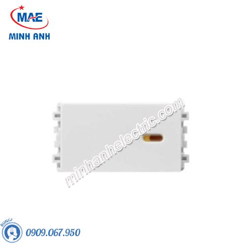 Công tắc 2 chiều size S màu trắng-Series Zencelo A - Model 8431S_2_WE_G19