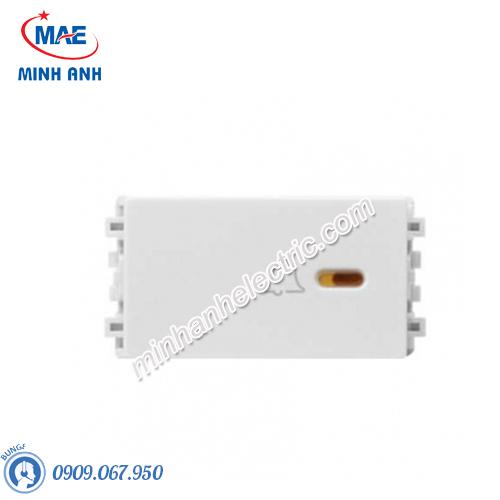 Nút nhấn chuông size S màu trắng-Series Zencelo A - Model 8431SBP_WE_G19