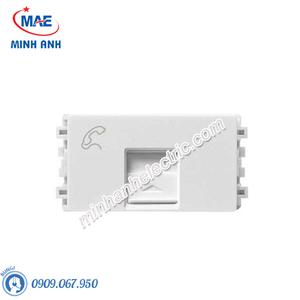 Ổ điện thoại size S màu trắng-Series Zencelo A - Model 8431SRJ4_WE_G19