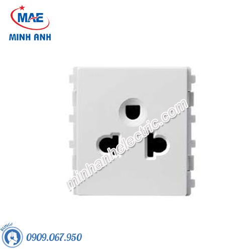 Ổ cắm đơn 3 chấu size M màu trắng-Series Zencelo A - Model 84426MUES_WE_G19