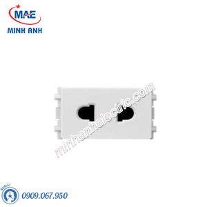 Ổ cắm đơn 2 chấu size S màu trắng-Series Zencelo A - Model 84426SUS_WE_G19