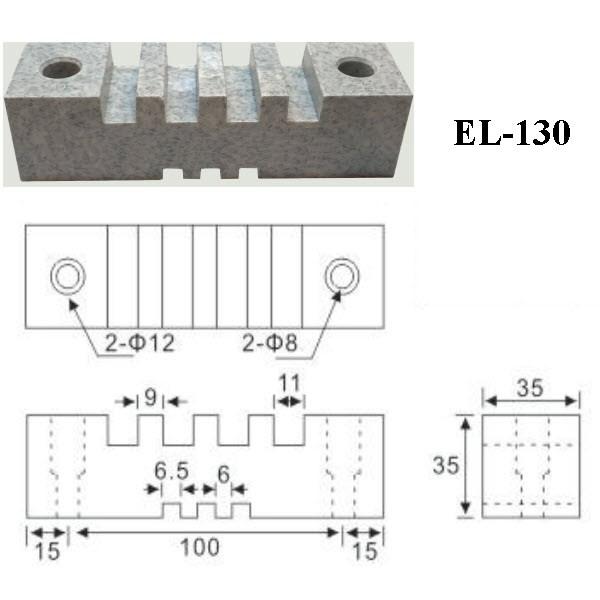 Thanh Cái EL 130 - 4 rãnh 10mm