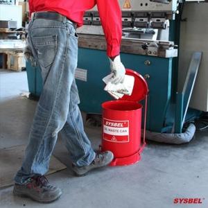 Thùng chứa rác thải dầu Oily Waste Can 10 Gallon/ 37.9 lít, màu đỏ cho dung môi dễ cháy WA8109300