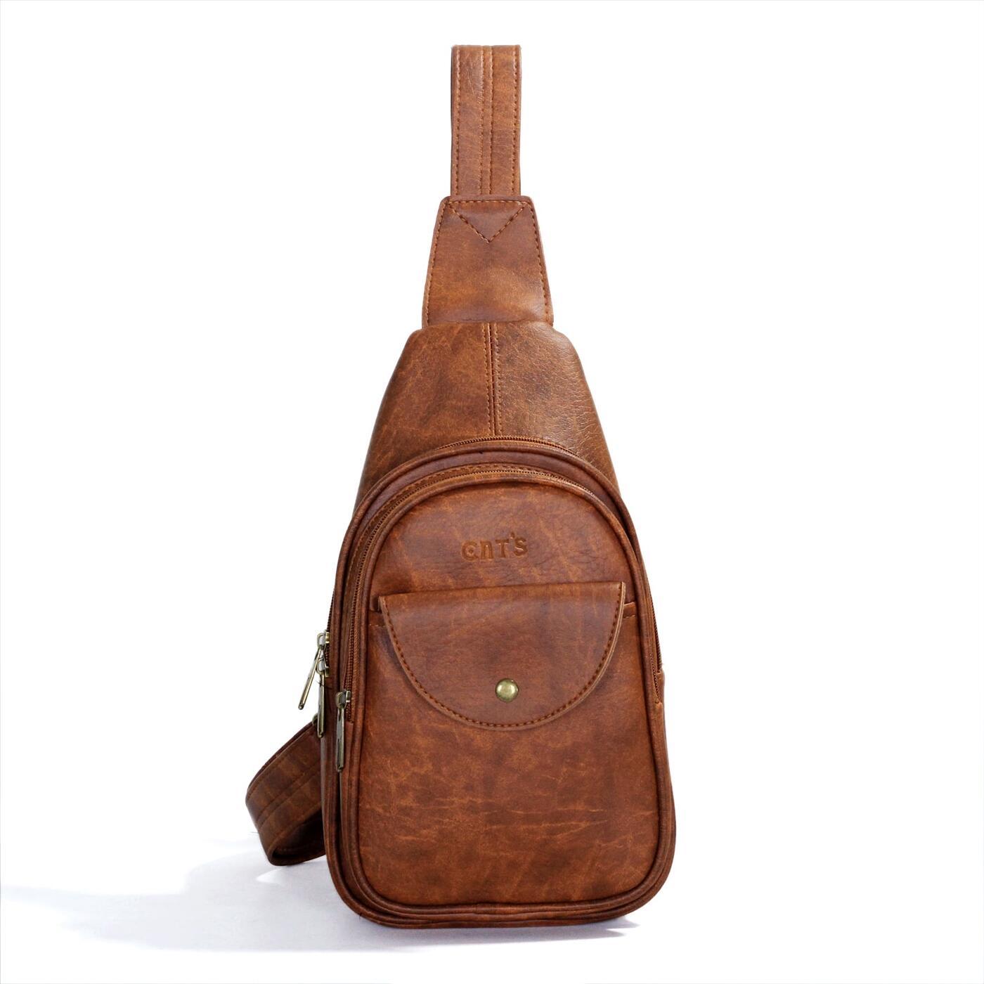 Túi đeo chéo CNT Unisex MQ18 Bò Đậm