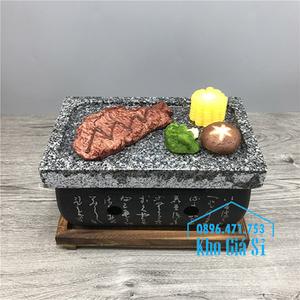 Bếp nướng đá để bàn kiểu nhật bản hình chữ nhật (size trung)